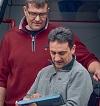 Geschäftsführer Gunter Ernst und Carsten Rausch der medDV, Fernwald