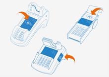 Verschiedene Terminals für das kontaktlose Bezahlen