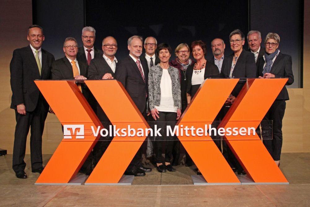 Vorstand der Volksbank Mittelhessen ehrt Jubilare 2016, Bild 42